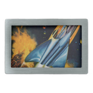 Escape from the Exploding Planet Rectangular Belt Buckles