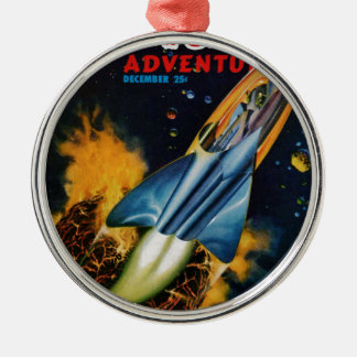 Escape from the Exploding Planet Silver-Colored Round Ornament