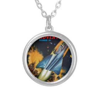 Escape from the Exploding Planet Silver Plated Necklace
