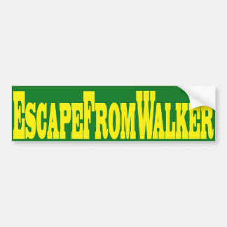 Escape From Walker Bumper Sticker