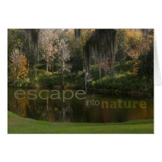 Escape into nature card
