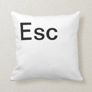 Escape Key Throw Pillow