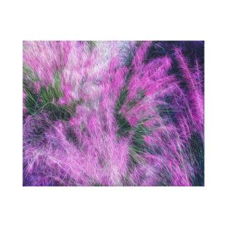 Escape Reality Pink Purple Floral Art Canvas
