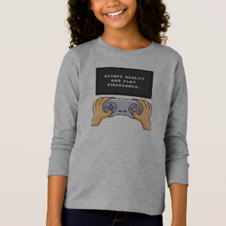 Escape Reality & Play Video Games   Sleeve Shirt