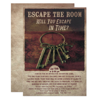 Escape Room Party Invitation