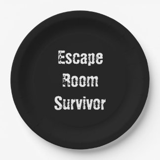 """Escape Room"" Party Paper Plates"