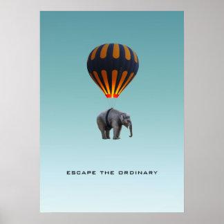 ESCAPE THE ORDINARY | ELEPHANT POSTER