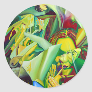 Escape To Fantasy, 120-80cm, 2016, oil on canvas Classic Round Sticker