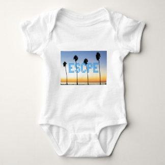 Escape to palm trees design baby bodysuit