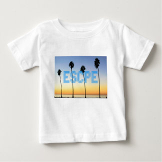 Escape to palm trees design baby T-Shirt