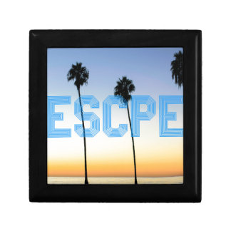 Escape to palm trees design gift box