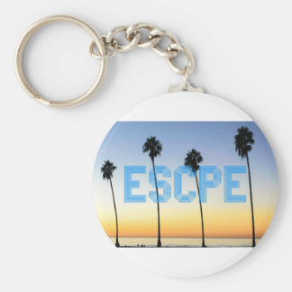 Escape to palm trees design keychain