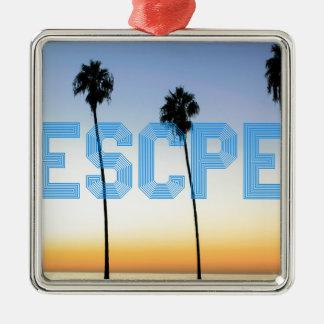 Escape to palm trees design metal ornament