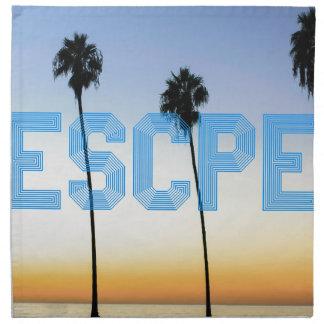 Escape to palm trees design napkin