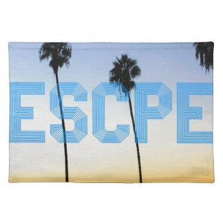 Escape to palm trees design placemat
