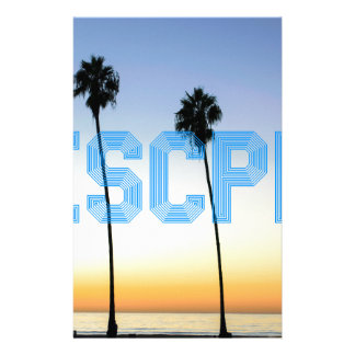 Escape to palm trees design stationery