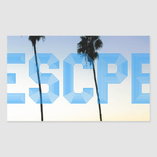 Escape to palm trees design sticker