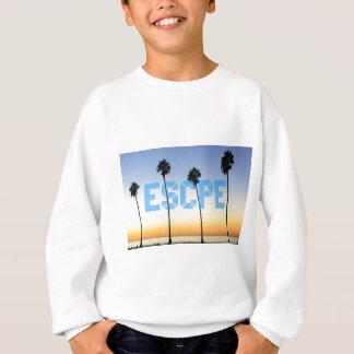 Escape to palm trees design sweatshirt