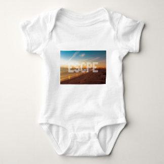 Escape to the beach design baby bodysuit