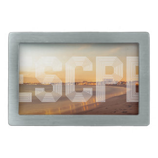 Escape to the beach design belt buckle