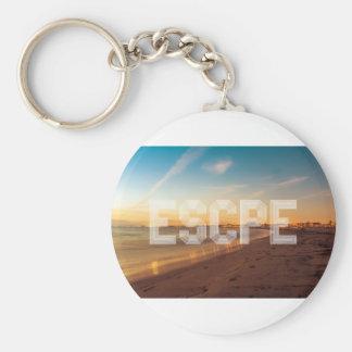 Escape to the beach design keychain