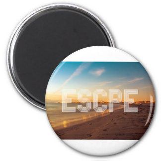 Escape to the beach design magnet