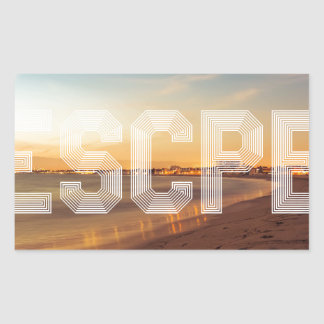 Escape to the beach design sticker