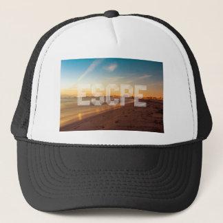 Escape to the beach design trucker hat