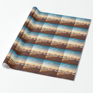 Escape to the beach design wrapping paper