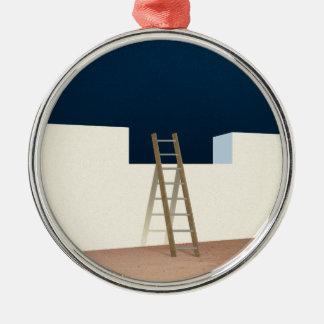 Escape To The Stars Silver-Colored Round Ornament