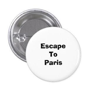 EscapeTo Paris 1 Inch Round Button