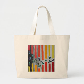Escaping through Barriers Large Tote Bag