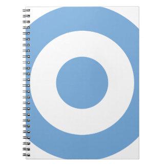 Escarapela Argentina - Roundel of Argentina Spiral Notebooks