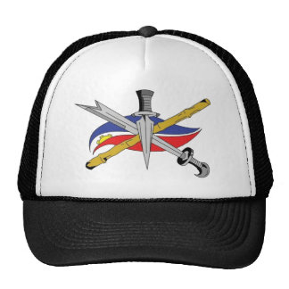 escrima-logo-transparent trucker hat