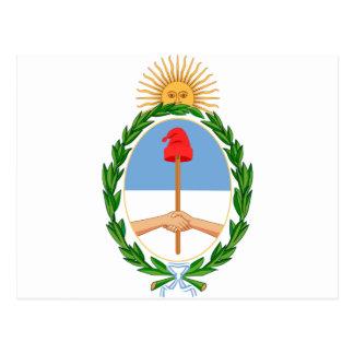 Escudo de Argentina - Coat of arms of Argentina Postcard