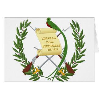 Escudo de armas de Guatemala - Coat of arms Card