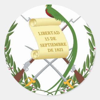 Escudo de armas de Guatemala - Coat of arms Classic Round Sticker