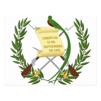 Escudo de armas de Guatemala - Coat of arms Postcard