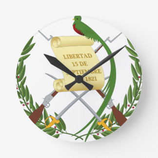 Escudo de armas de Guatemala - Coat of arms Round Clock