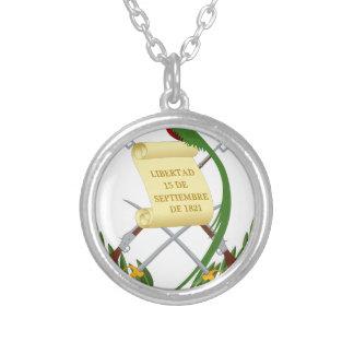 Escudo de armas de Guatemala - Coat of arms Silver Plated Necklace