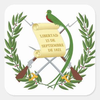 Escudo de armas de Guatemala - Coat of arms Square Sticker