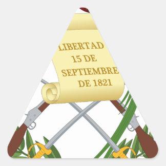 Escudo de armas de Guatemala - Coat of arms Triangle Sticker