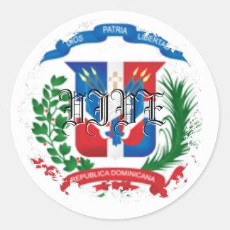 Escudo Distressed Round Stickers