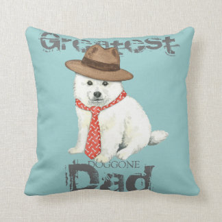 Eskie Dad Throw Pillow