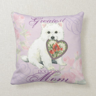 Eskie Heart Mom Throw Pillow
