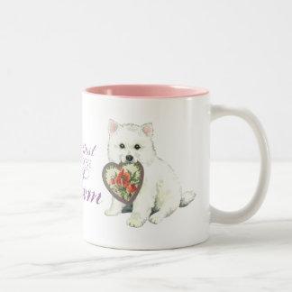 Eskie Heart Mom Two-Tone Coffee Mug