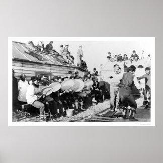 Eskimo Ceremonial Dance in Nome, Alaska 1914 Poster