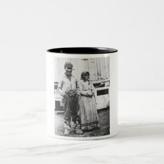 eskimo couple Two-Tone coffee mug