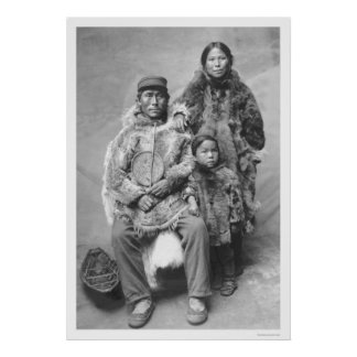 Eskimo Family Portrait 1921 Poster