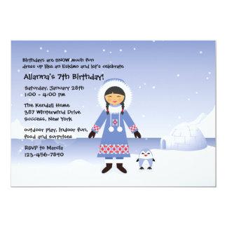 Eskimo Girl Invitation